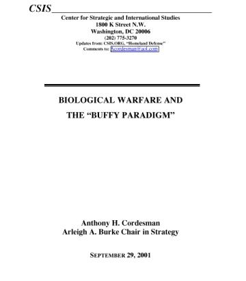 biological warfare essays